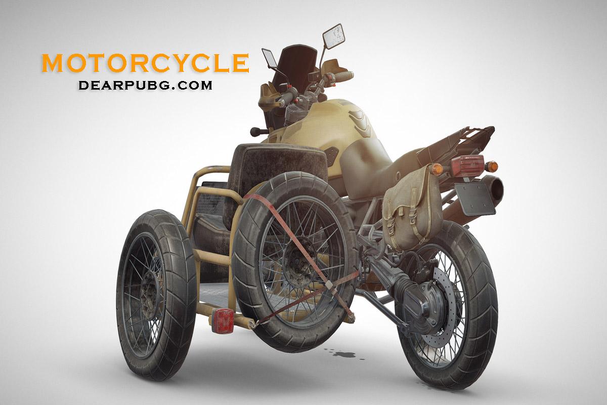PUBG VEHICLES MOTORCYCLE 3 SEATS